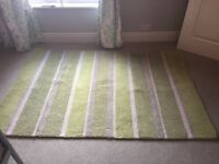 Laura Ashley Bexley Olive Stripe Wool Rug W120cm L180cm - Used (collection only)