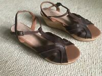Unworn brown wedge sandals from Fat Face Size 6 (39)