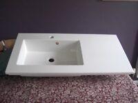 White Integral Sink - Unused