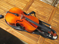 Cello 1/2 size Maurice Debourde circa 1995 Outfit with case and bow