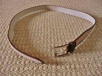 Mens Pierre Cardin Brown Genuine Leather Suede Belt