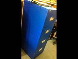 High Quality Steel Metal 4 Drawer Blue Filing Cabinet Used for Office or Home Very Heavy
