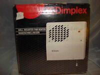 DIMPLEX WALL MOUNTED FAN HEATER (1 or 2Kw SWITCH)