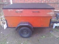 A car trailer inderpentent surspention good tyres_lights