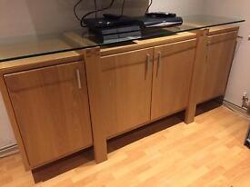 Wooden Sideboard Unit.