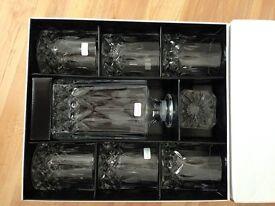 Royal Doulton 7-piece Seasons lead crystal decanter set