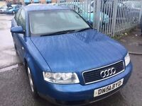 AUDI A4. 2.0 SE PETROL MANUAL 2001 CLIMATE CONTROL ALLOYS DRIVES NICE