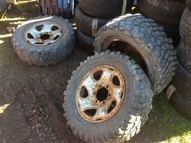 off road tyres, 16inch, 215/65/16, fitted on discovery rims, good tread £70 kilmarnock