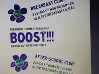 Birkhill Afterschool and Breakfast Club - Assistant Support Worker Required