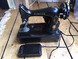 Vintage 1950s? Class 99K Singer sewing machine + dust cover, Good working order, collect from EH10