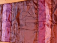 Purple satin affect pillow and single bed throw