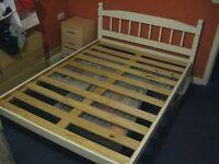 ST IVES double bed frame - Wooden pine frame.