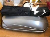 Audi Q5 roof box and roof top bars including storage bag £250ono