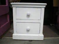 PAINTED ANTIQUE PINE LARGE BEDSIDE