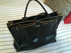 Pure leather, black Furla Handbag. 14 in wide, cost over £300 new. In lovely condition