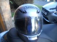 Shoei XR1000 Motor Cycle Crash Helmet Silver Graphite
