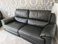Initiation Leather 2 and 3 Seat Recliner Sofa