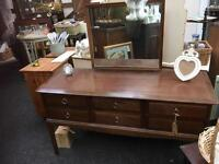 LOVELY STAG SIX DRAWER DRESSING TABLE