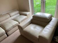 Large 4 seater sofa and chair