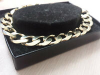Mens Gold Plated Sterling Silver Bracelet, 9ct boxed WAS £69.99 new!
