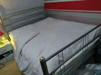 Ohio Style double Metal Bedstead + Mattress