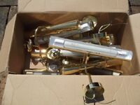 Job Lot of 11 Used Polished Brass Picture Lights