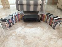 DAEWOO VIDEO PLAYER VHS +33 MIX VIDEOTAPES