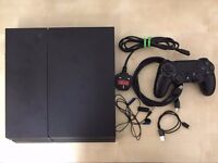 Matte Black PS4 Complete with Controller and Cables (Includes Mic)