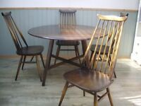 Stunning Ercol Table and Goldsmith Chairs
