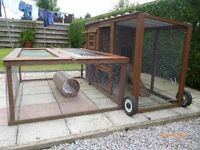 Hen-house/Rabbit hutch with detachable extension.