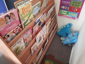 Children's bookcase and shelves