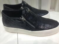 Giuseppe Zanotti Croc Effect Low Top Trainers. Size 10