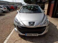 PEUGEOT 308 1.6 S 5d AUTO 118 BHP (silver) 2010