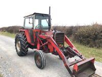 Massey Ferguson 575 multi power loader tractor 4700 hours no vat