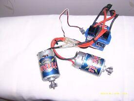 traxxas evx-2 esc and two 550 motors