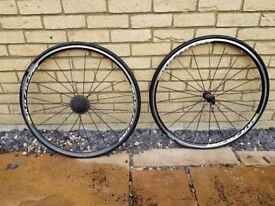 Almost new Mavic Aksium Wheel Set - C/W Shimano 105 Cassette and tyres