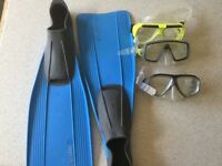 Snorkelling masks and fins good condition surplus to requirements