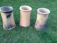 Original Victorian buff chimney pots