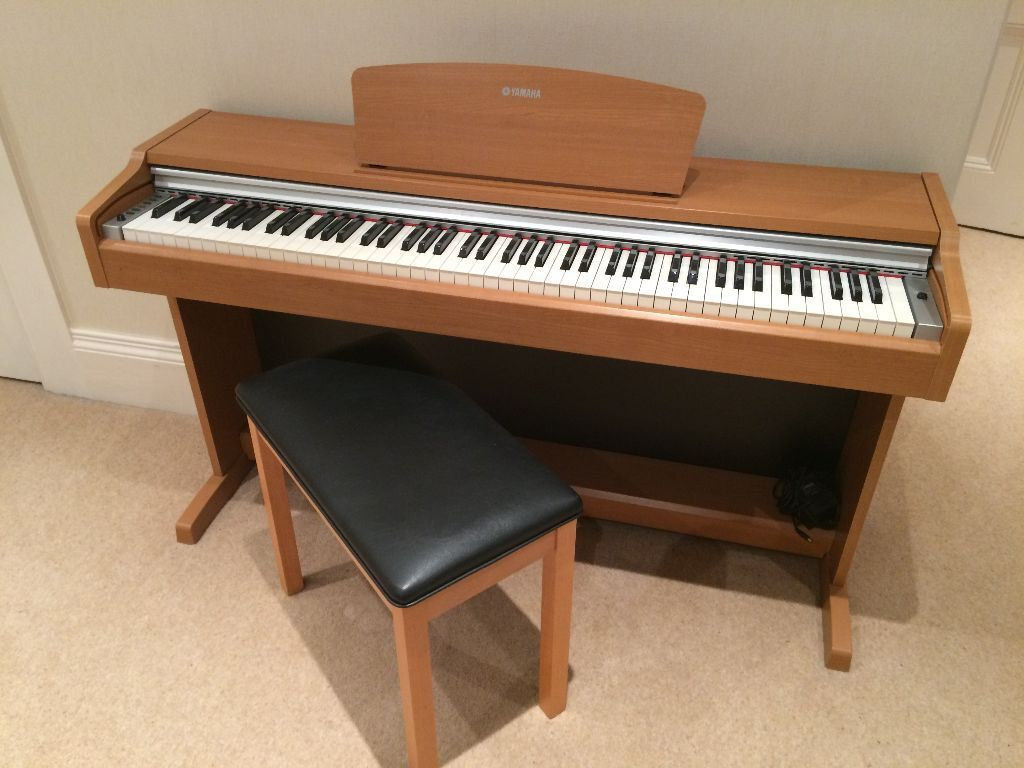 as new yamaha ydp 131 electric piano and stool cherry. Black Bedroom Furniture Sets. Home Design Ideas