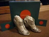 Karen Millen Silver Sandals UK size 3 - BRAND NEW, NEVER WORN!