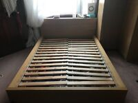 Ikea oak malm furniture bed frame, wardrobe and drawers
