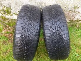 2 Good Year Ultragrip 9 Winter tyres 185/60 R14