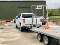Flat Bed two ton, Twin axle trailer