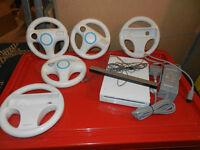 Nintendo Wii with 5 wheels