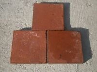 Victorian salvaged red floor tiles £1 each