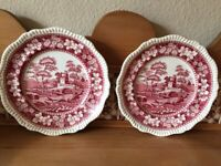Copeland 'Spade's Tower' Plates x 2. Good condition.