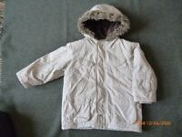 M&S 'fur'-lined boys coat age 2-3