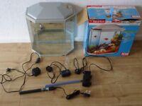 30 L aquarium inc new heater , long bubble stone , filter pump and air pump