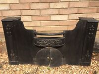 Mock antique fire front