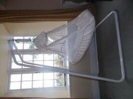Amby Baby Hammock in Cream with Travel bag.